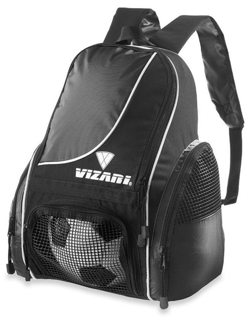 Vizari Solano Soccer Sport Backpack - Black