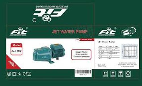 موتور مياة 1حصان تحضير ذاتى ملف نحاس ريشة نحاس - FIT- JET107