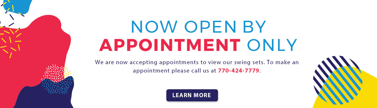 Open by appointment only. Call us at 770-424-7779 to make an appointmement now!