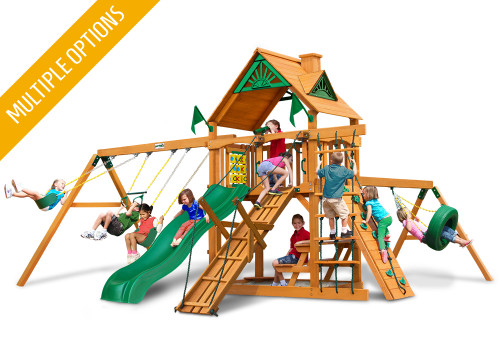Studio front view of Frontier Swing Set from PlayNation