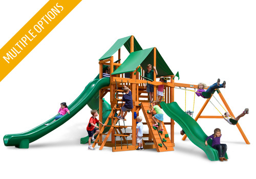 Studio front view of Great Skye II Swing Set from PlayNation