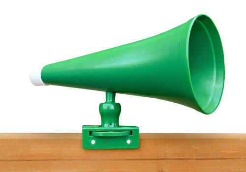 Studio shot of Megaphone from PlayNation Play systems.