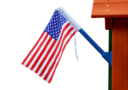 Studio view of American Flag from Playnation.