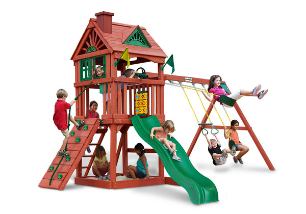 Front view of Nantucket Play Set from Playnation