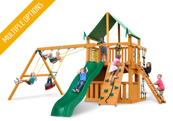Studio front view of Chateau Clubhouse Play Set from Playnation
