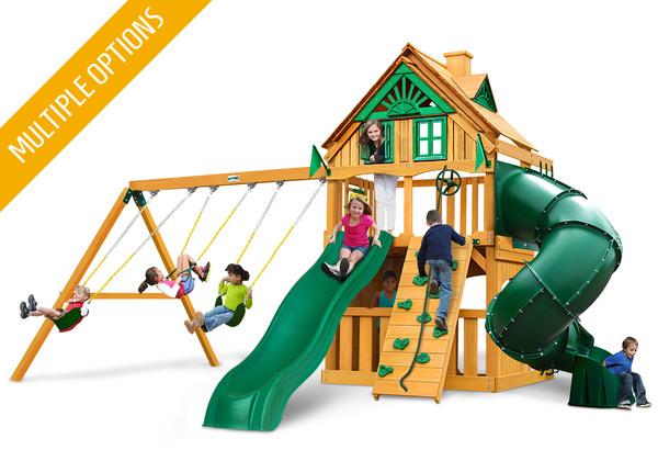 Mountaineer Clubhouse w Tube Slide Swing Set