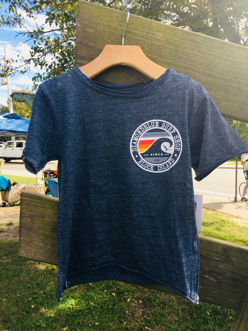 Bird Wave Toddler Burnout Tee Navy