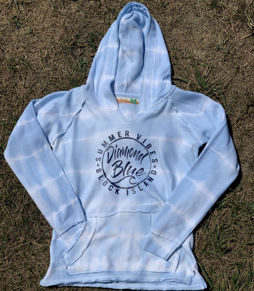 Wave tie dye hoody girls