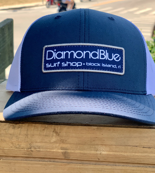 DB hat rectangle patch navy/silver