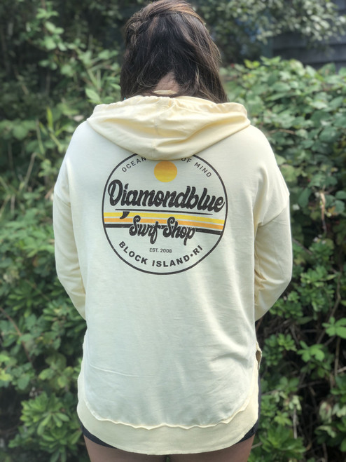 Belly Women's Hoodie Yellow
