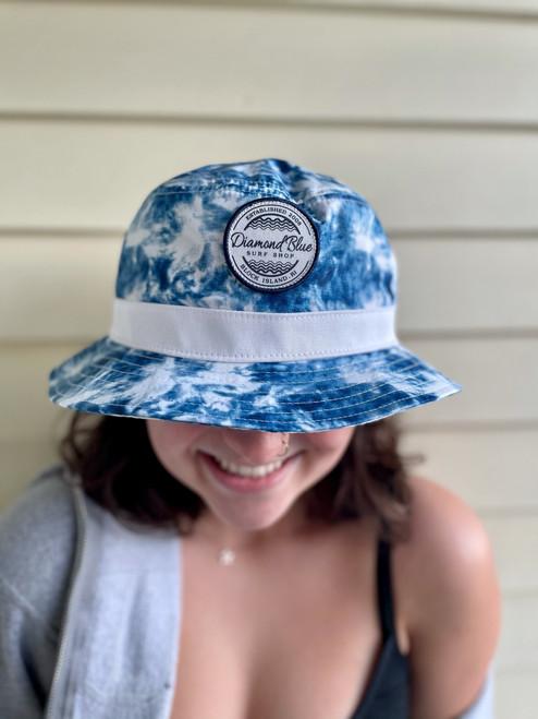 DB Bucket Hat-blue tie dye