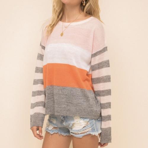 Multi Color Striped Sweater