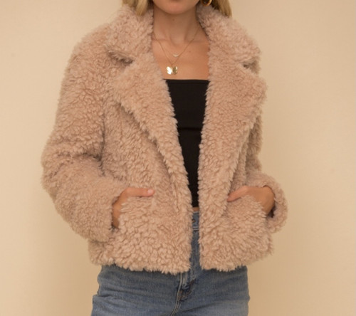 Sherpa Cropped Jacket