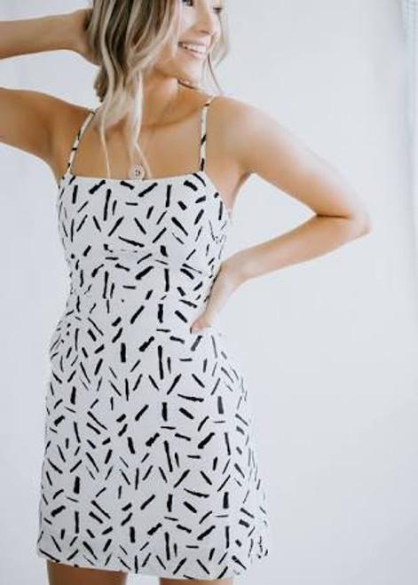 Mini Dress back ribbon detail