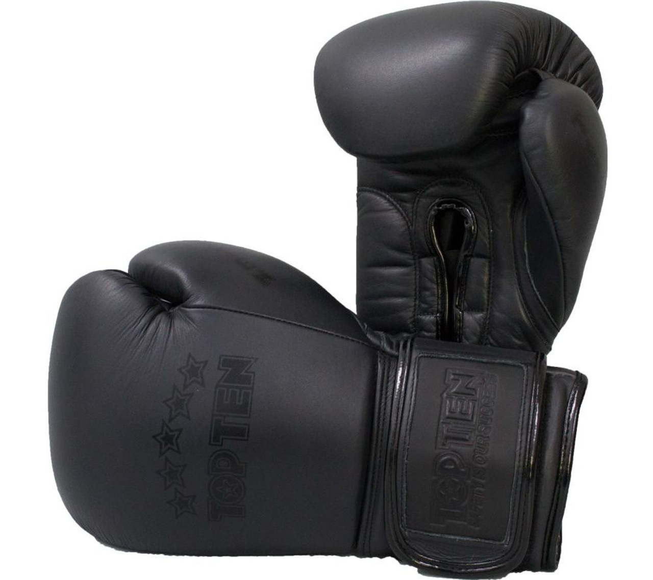 TOP TEN XLP BOXING BLUE//WHITE GLOVES KICKBOXING MMA MUAY THAI