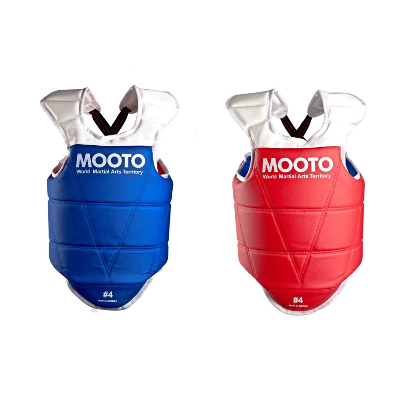 Mooto Taekwondo Red Blue Chest Guard Vest Protector Gear Wtf Kta Approved Chest Protector Adult Kids Tkd Protector Guards Back Support