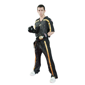 Top Ten Adult Mesh Kickboxing Pants Black/Gold
