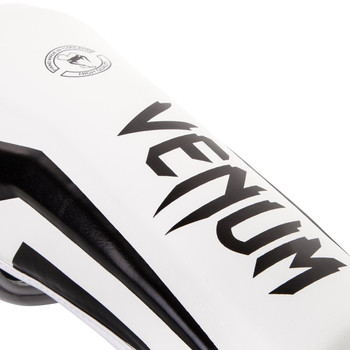 Venum Elite Shin Guards White/Black