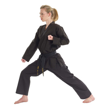 Bytomic Adult Black V-Neck Martial Arts Uniform