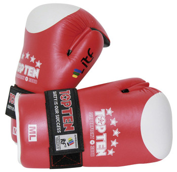 Top Ten Open Hand Superfight ITF Gloves Red