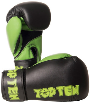 Top Ten XLP Boxing Gloves Black/Green