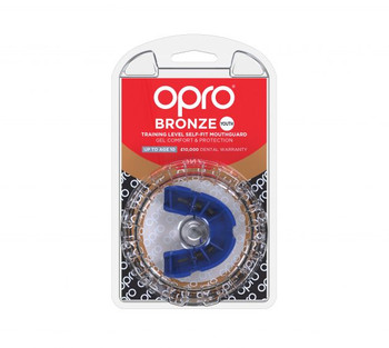 Opro Junior Bronze Gen 4 Mouth Guard Blue