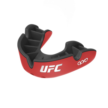 Opro UFC Silver Mouth Guard Red/Black