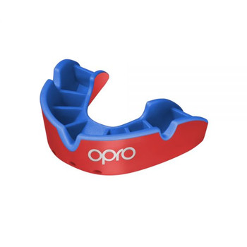 Opro Junior Silver Gen 4 Mouth Guard Red/Blue