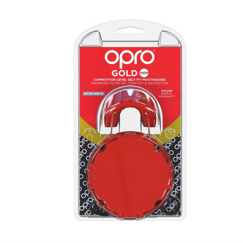 Opro Junior Gold Gen 4 Mouth Guard Red/Pearl