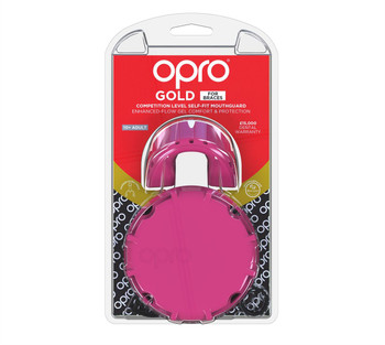 Opro Gold Braces Gen 4 Mouth Guard Pink/Pearl