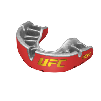 Opro UFC Gold Mouth Guard Red Metal/Silver