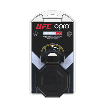 Opro UFC Platinum Fangz Mouth Guard Black Metal/Red
