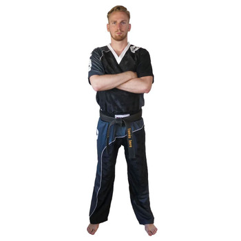 Top Ten Bow Kickboxing Uniform Black/Grey
