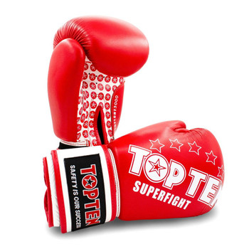 Top Ten Superfight Boxing Gloves Red