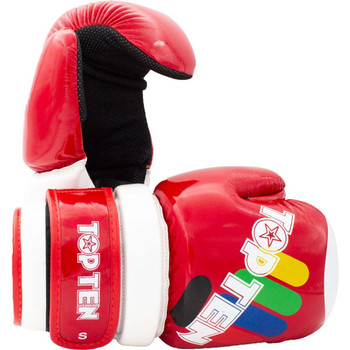 Top Ten Glossy Block ITF Pointfighter Glove Red