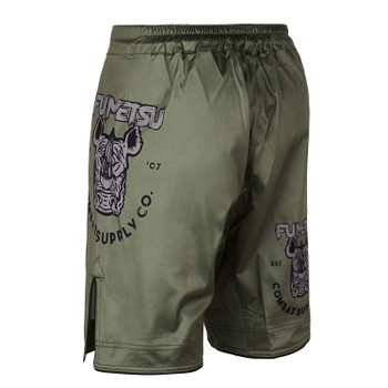 Fumetsu Rampage Supply Co Fight Shorts Khaki