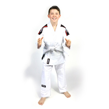Fumetsu Kids Shield BJJ Gi  White