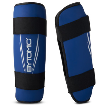 Bytomic Axis V2 Shin Guards Blue/White