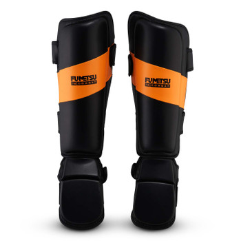 Fumetsu Ghost Thai Shin/Instep Guards Black/Orange