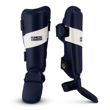 Fumetsu Ghost Thai Shin/Instep Guards Navy/White