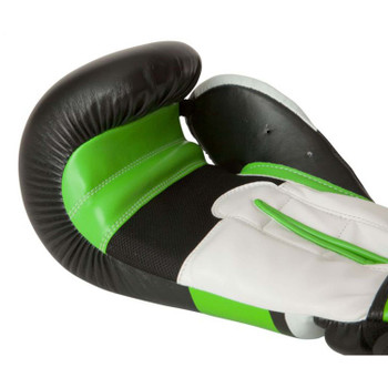 Top Ten Stripe Boxing Gloves Black/Green/White