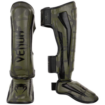 Venum Elite Shin Guards Khaki/Camo