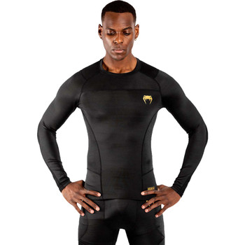 Venum G-Fit Long Sleeve Rash Guard Black/Gold