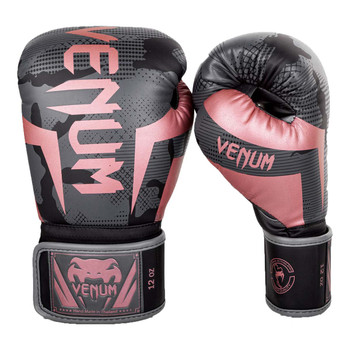 Venum Elite Boxing Gloves Black/Pink