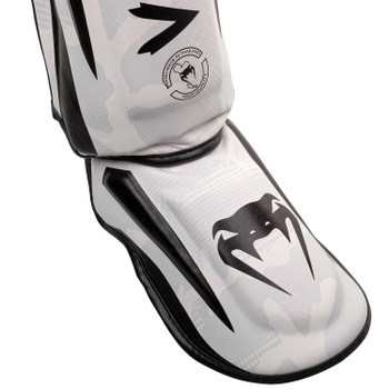 Venum Elite Shin Guards White/Camo