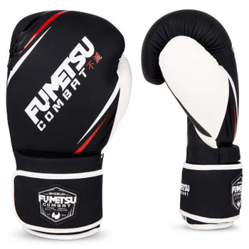 Fumetsu Shield Boxing Gloves Black/White