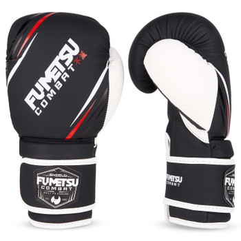 Fumetsu Shield Kids Boxing Gloves Black/White
