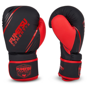 Fumetsu Shield Kids Boxing Gloves Black/Red