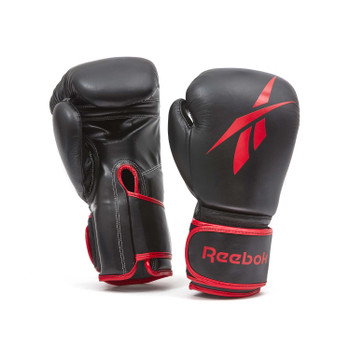 Reebok Leather Boxing Gloves Black/Red