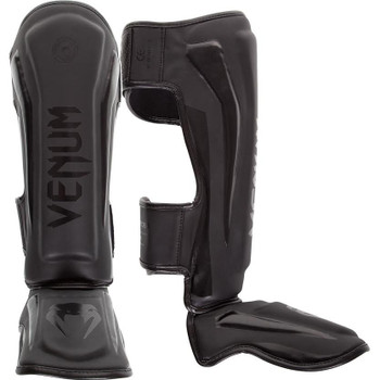 Venum Elite Shin Guards Black/Black